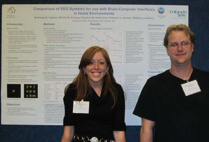 Elliott and Brittany presenting a poster at MCIN